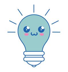bulb kawaii cartoon vector image