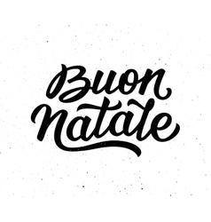 Buon natale lettering merry christmas in italian vector