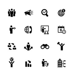 Business opportunities icons vector