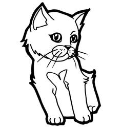 Cat and kitten Coloring Page vector image vector image