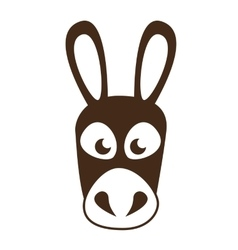 Coffee mule animal icon vector