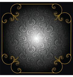 Cover card or background in black vector