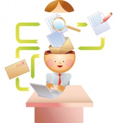 e-mail process vector image