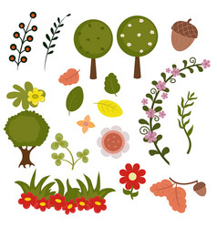Forest elements forest elements vector