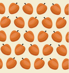 fruit peach seamless pattern vector image