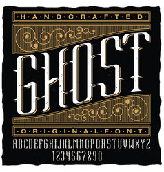 handcrafted ghost poster vector image