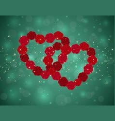 Heart background vector