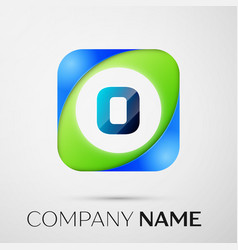 Letter o logo symbol in the colorful square vector