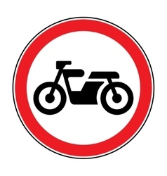 motorcycle red sign vector image vector image