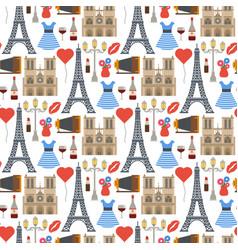 paris famous travel cuisine traditional vector image