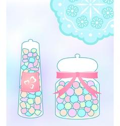 Pastel candy jar vector image vector image