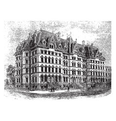 Proposed family hotel vintage vector