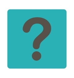 Question flat grey and cyan colors rounded button vector