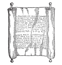 roman book rome vintage engraving vector image vector image