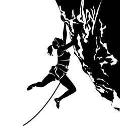 Silhouette of a climber vector