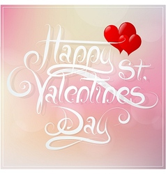 St Valentines Day greeting card design vector image vector image