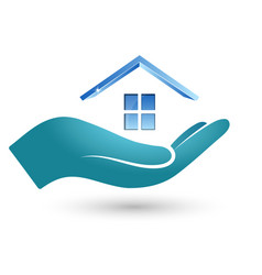 Symbol of the house in hand vector