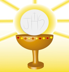 First communion eucharist 2 vector