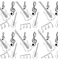 Electric guitar musical background vector