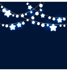 Merry christmas and new year garland light design vector