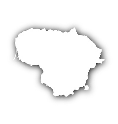 Map of lithuania with shadow vector
