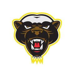 Honey badger mascot head vector
