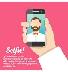 Selfie self portrait poster vector