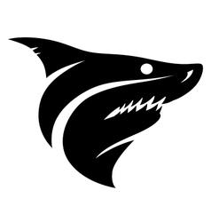 Shark head sign vector image