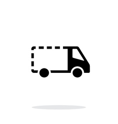 Empty delivery minibus icon on white background vector