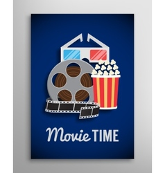 Cinema flyer movie trailer advertisement vector