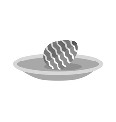 Egg in plate vector
