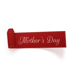 Mothers day scroll paper banner vector