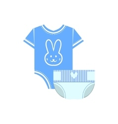 Body and nappy for baby vector