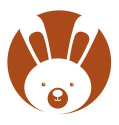 Animal rabbit cartoon vector