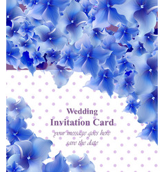 blue flowers card beautiful vector image vector image