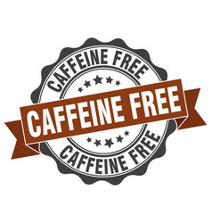 Caffeine free stamp sign seal vector