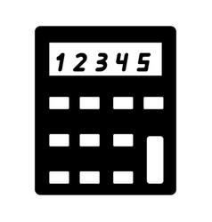calculator the black color icon vector image