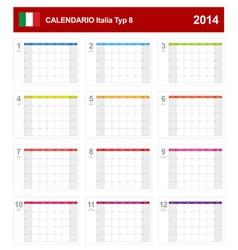 Calendar 2014 Italy Type 8 vector image vector image