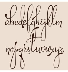Calligraphy cursive font vector image