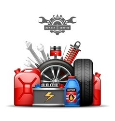 Car Service Composition Ad Flat vector image vector image