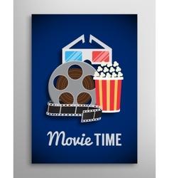 Cinema flyer movie trailer advertisement vector image