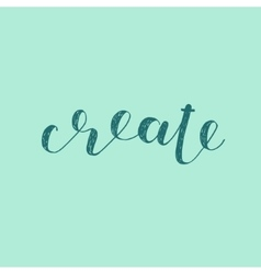 Create Brush lettering vector image vector image