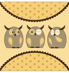 Cute Little Owls vector image