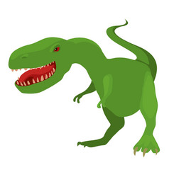 Dinosaur tyrannosaur icon cartoon style vector