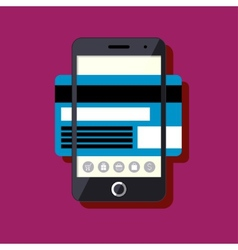 Flat design mobile payment concept vector