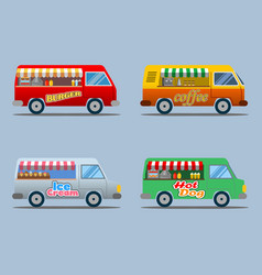 food truck collection vector image vector image