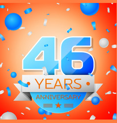forty six years anniversary celebration vector image vector image