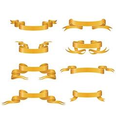 Gold ribbons vector