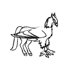 Hippogriff greek mythological creature beast vector