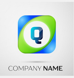 Letter q logo symbol in the colorful square vector